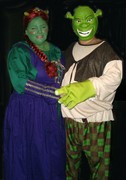 customer wearing plus size Renaissance Fiona Ogre Queen fairy tale Halloween costume from Shrek