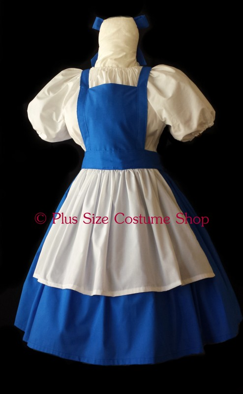 handmade plus size belle blue dress from disney beauty and the beast