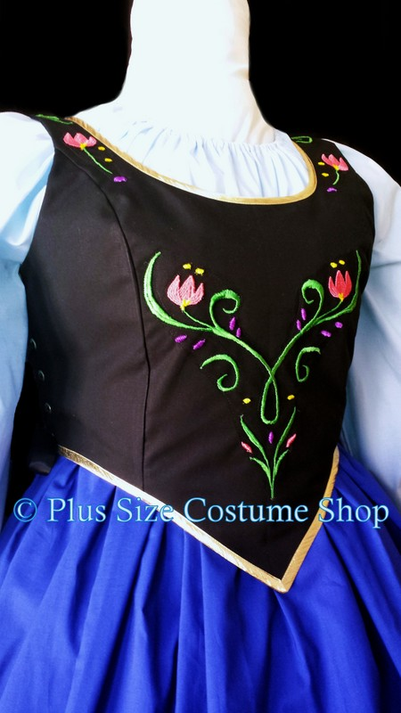 Anna Frozen Halloween Costume Plus Size And Super Size