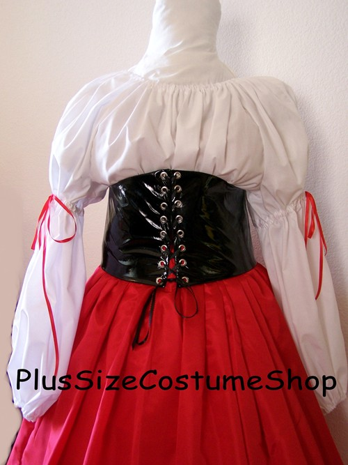 handmade plus size renaissance barmaid wench pirate halloween costume dress gown