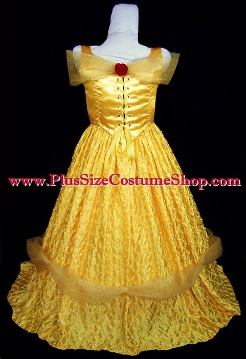 deluxe belle halloween costume | plus size and super size