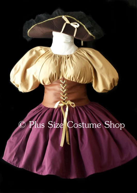 handmade plus size pirate buccaneer wench Halloween costume