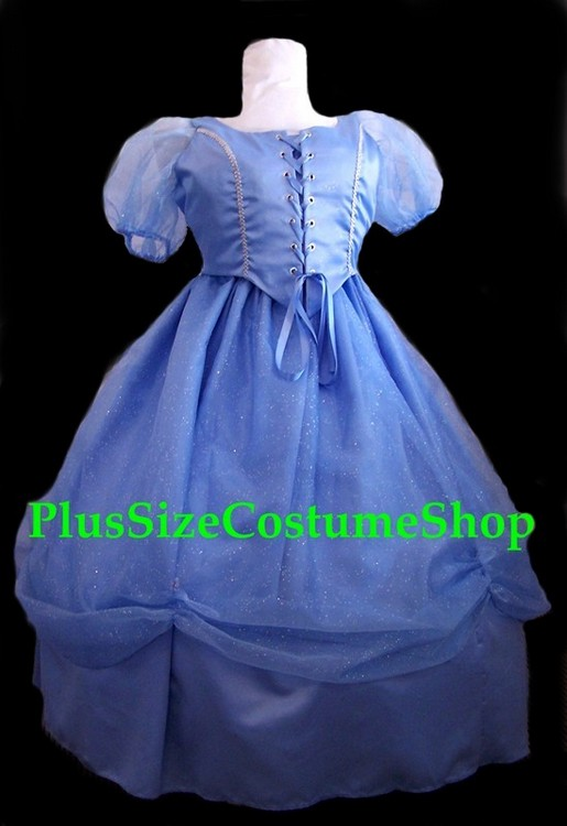 handmade plus size renaissance cinderella halloween costume fairy godmother from shrek and glinda from wicked ball gown dress satin beaded organza blue