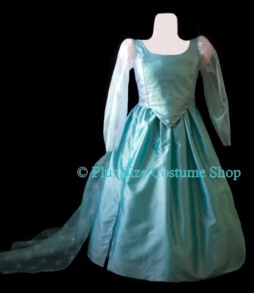 handmade plus size elsa halloween costume from frozen gown dress let it go disney ice princess