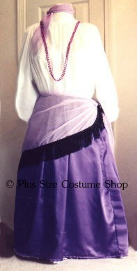 handmade plus size or super size chiffon shawl with fringe halloween costume shown in lavender with black