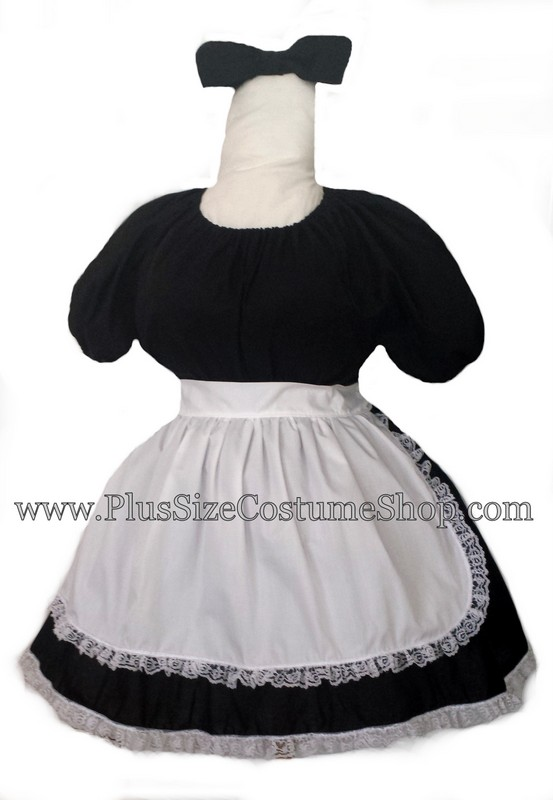 handmade plus size French Maid Halloween costume