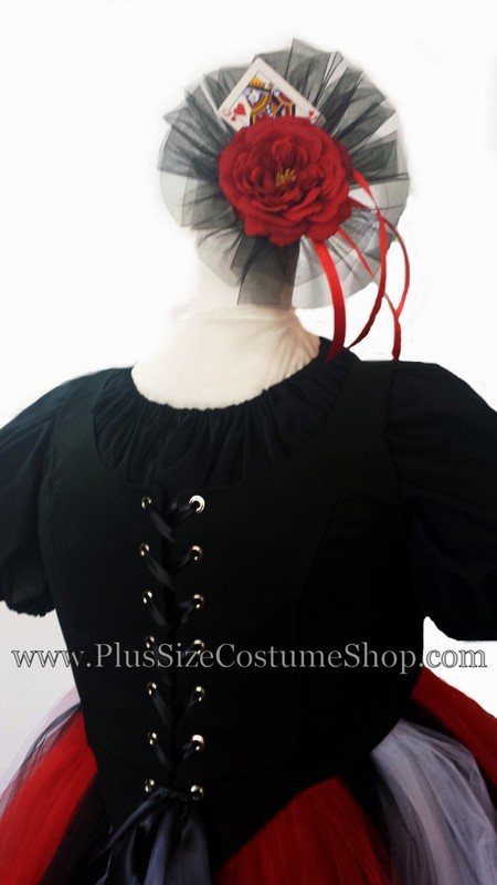 handmade plus size queen of hearts tulle skirt halloween costume renaissance gown dress