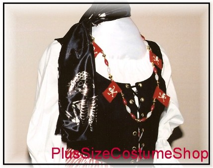 handmade plus size renaissance pirate halloween costume dress gown skull and crossbones