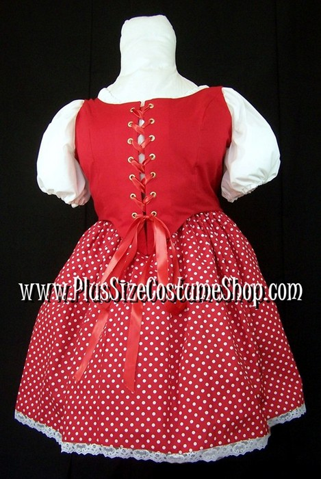 handmade plus size sexy little red riding hood halloween costume renaissance gown dress up close view