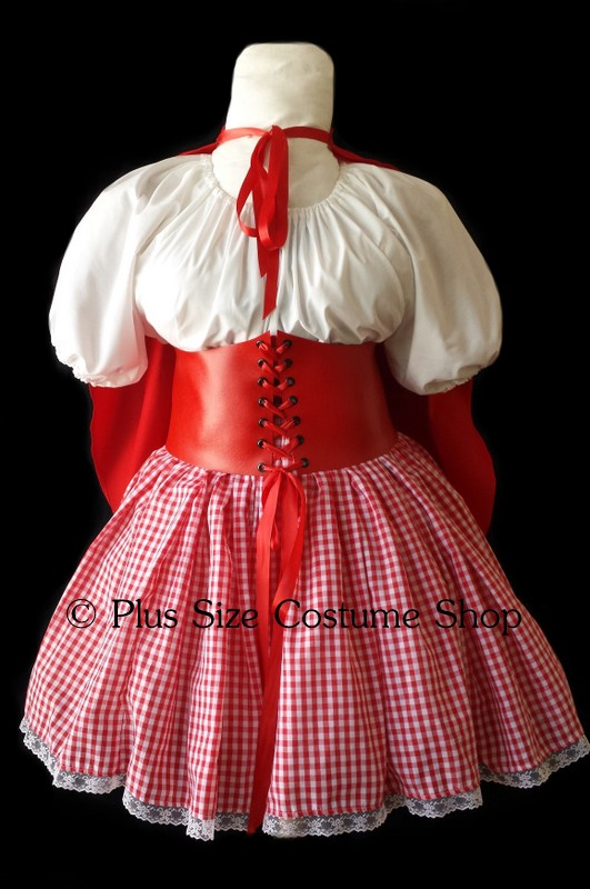 handmade plus size sexy little red riding hood halloween costume value collection dress
