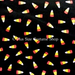 plus size halloween harvest witch fabric sample candy corn cotton black