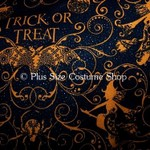 plus size halloween harvest witch fabric sample trick or treat witches message glitter sparkle cotton black