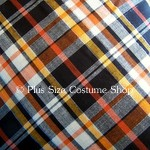 plus size halloween harvest witch fabric sample white plaid with orange yellow cotton black