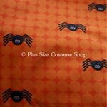 plus size halloween harvest witch fabric sample orange glitter sparkle spiders cotton black