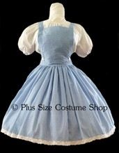thumbnail plus size dorothy gale halloween costume from the wizard of oz wicked blue gingham dress skirt bib apron