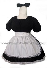 thumbnail plus size sexy french maid halloween costume dress gown