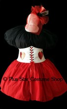 thumbnail plus size queen of hearts alice in wonderland halloween costume great value dress gown