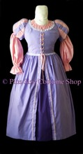 thumbnail plus size rapunzel tangled halloween costume renaissance dress gown in lavender and pink