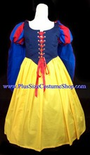 thumbnail plus size snow white halloween costume renaissance dress gown with cape and striped sleeves yellow skirt organza sparkle overlay