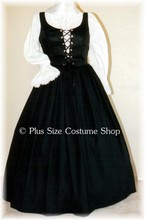 thumbnail plus size basic renaissance gown dress pirate witch base halloween costume