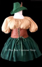 thumbnail plus size robin hood halloween costume maid marian dress gown great value