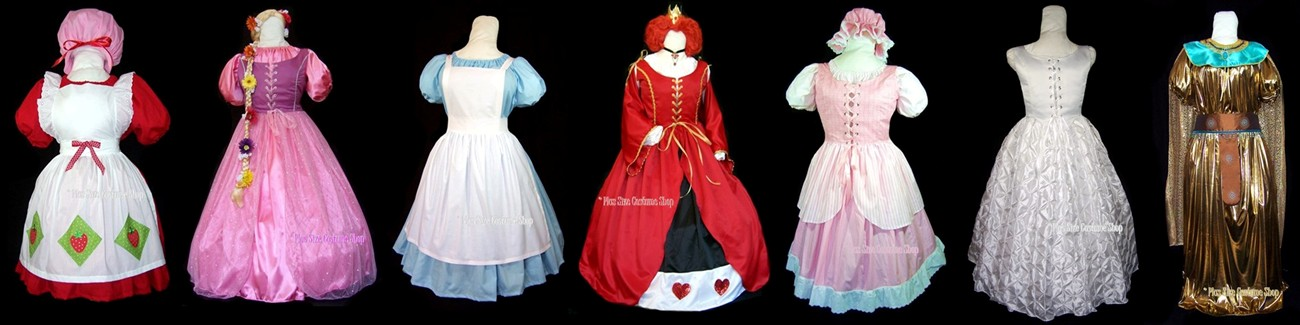 plus size and super size halloween costumes, renaissance dresses, and Christmas costumes banner 1