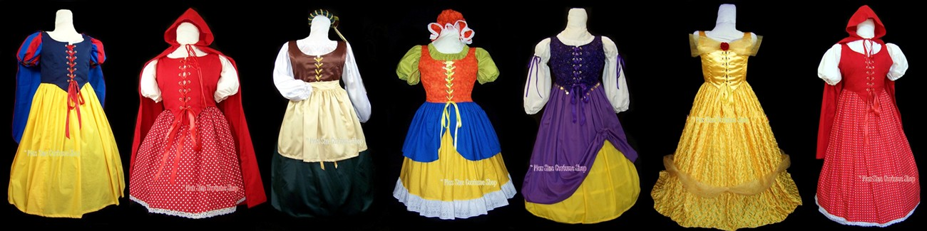 plus size and super size halloween costumes, renaissance dresses, and Christmas costumes banner 3