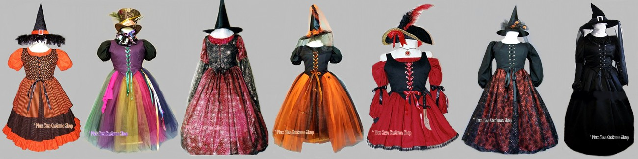 plus size and super size halloween costumes, renaissance dresses, and Christmas costumes banner 4