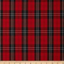 thumbnail dark red kelly and lime green and black plaid tartan fabric