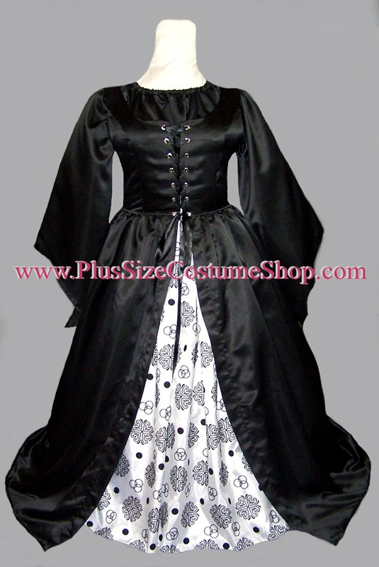 plus size renaissance celtic knot irish gown dress package limited edition queen halloween costume