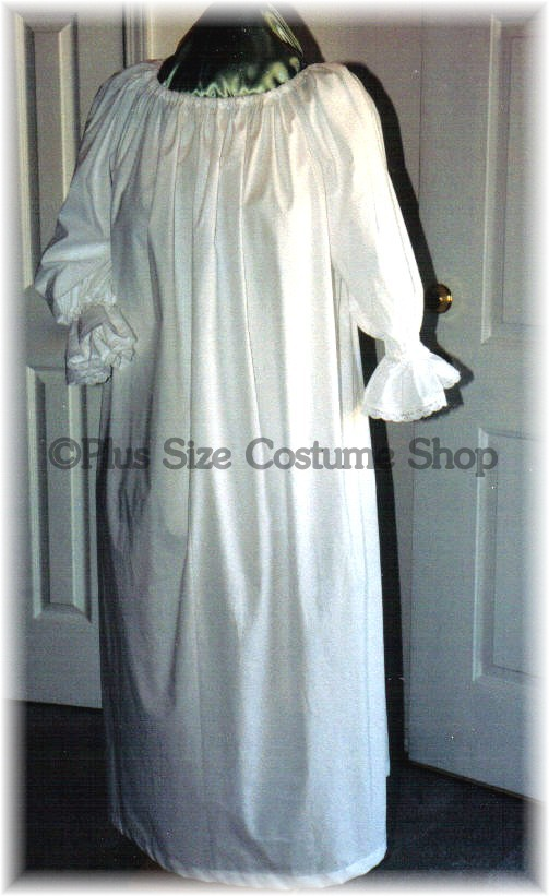 renaissance plus size chemise undergarments nightgown in white cotton