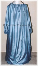 renaissance plus size cornflower blue silk essence chemise shirt gown dress halloween costume
