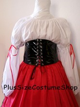 renaissance plus size gown dress sexy pirate wench tall waist cincher pvc vinyl halloween costume