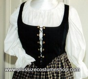 thumbnail renaissance plus size lace-up bodice in black