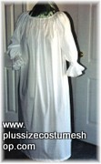 thumbnail renaissance plus size chemise in white cotton