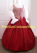 thumbnail renaissance plus size skirt in red